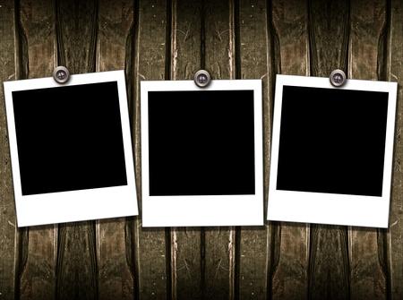 tenedores: Tres marco de Polaroid
