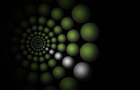 illustration of a green circular mesh background   pattern illustration
