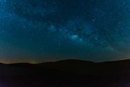 Milky Way over desert