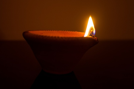dipawali: Oil lamp Stock Photo