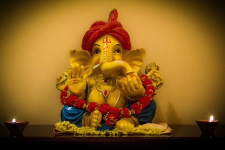 dipawali: Shri Ganesha Stock Photo