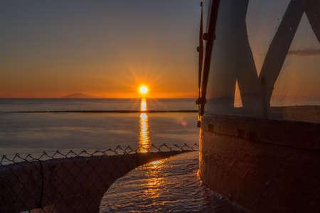 light  house: Sunset at a Light house