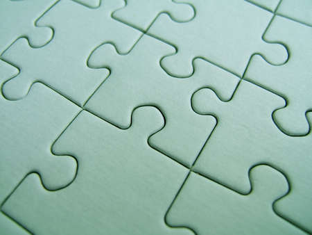 Green puzzle close-up