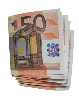 Isolated fifty euro