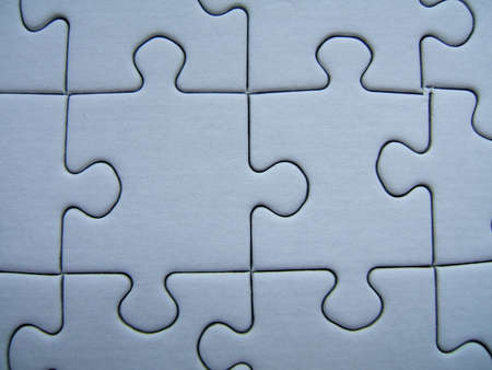 Blue puzzle close-up Stock Photo