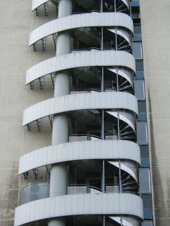 backstairs: Di una spirale metallica backstairs  Archivio Fotografico