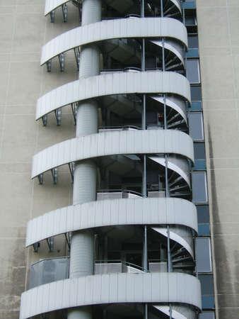 Spiral of a metallic backstairs photo