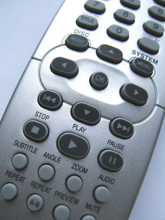 command button: Remote control (detail) Stock Photo
