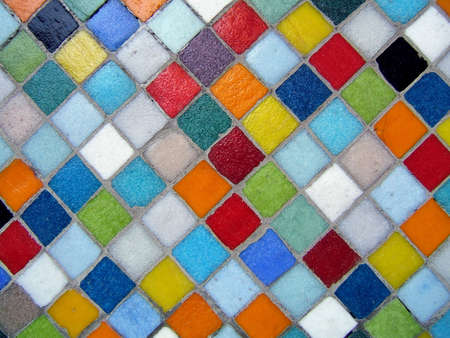 Multicolored ceramic background Stock Photo