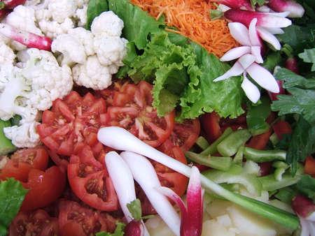 Colorful salad close-up
