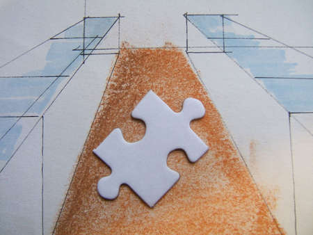 graphicals: Puzzle on a drawing design