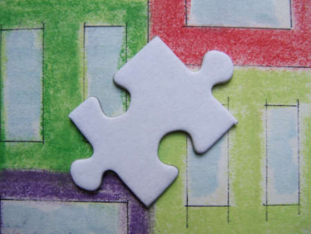 graphicals: White puzzle close-up