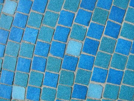 Blue mosaics close-up