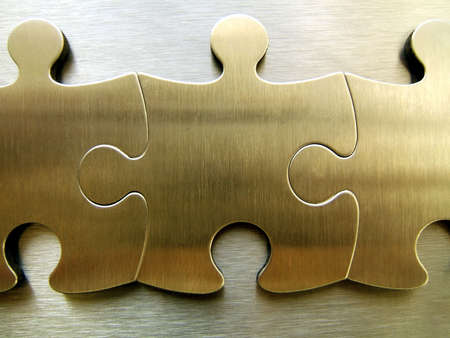Golden jigsaw Stock Photo - 294885