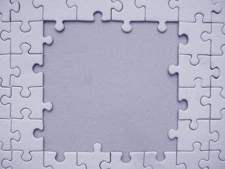 Blue jigsaw frame Stock Photo - 314107