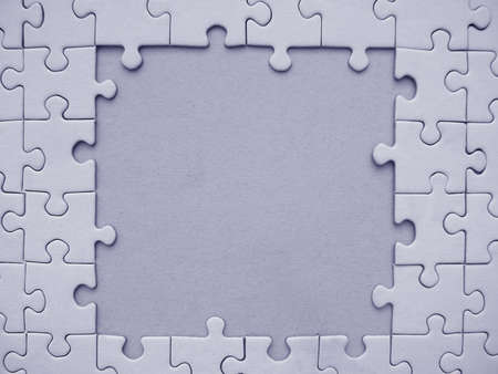 Blue jigsaw frame Stock Photo - 314107