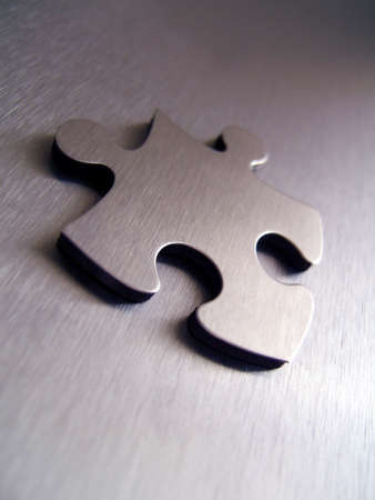Jigsaw perspective Stock Photo