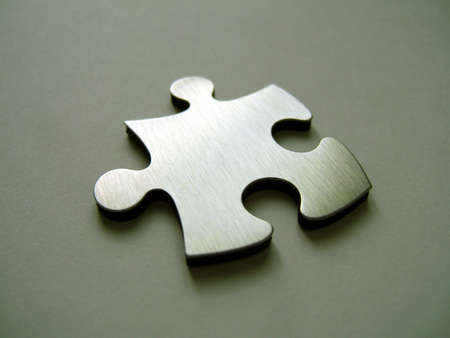 Metallic jigsaw piece Stock Photo - 314111
