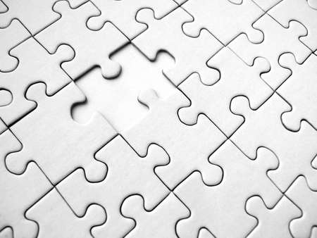 White jigsaw puzzle background (conceptual) Stock Photo - 329819