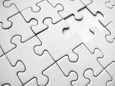 White jigsaw pattern Stock Photo - 334301
