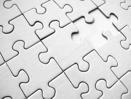 White jigsaw pattern