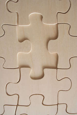 Wooden jigsaw piece Stock Photo - 368474