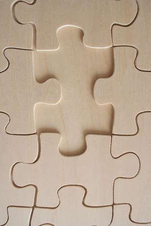 graphicals: Wooden jigsaw piece