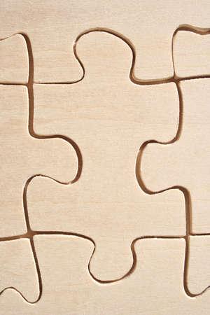 Wooden Jigsaw Element close-up Stock Photo - 389546