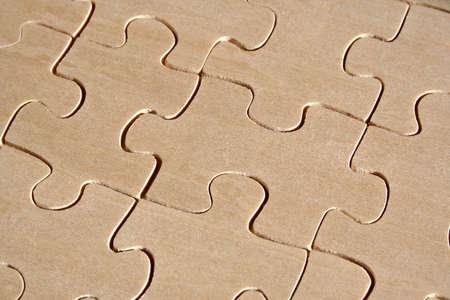 Wooden jigsaw pattern Stock Photo - 389545
