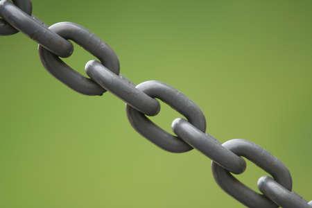 Metallic chain Stock Photo