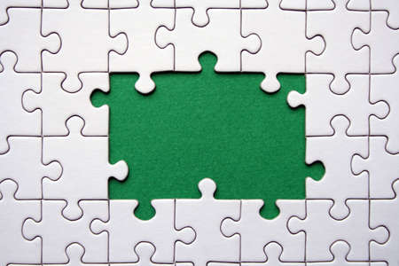 Jigsaw frame Stock Photo