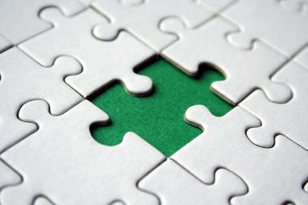 Green empty jigsaw element Stock Photo - 458315