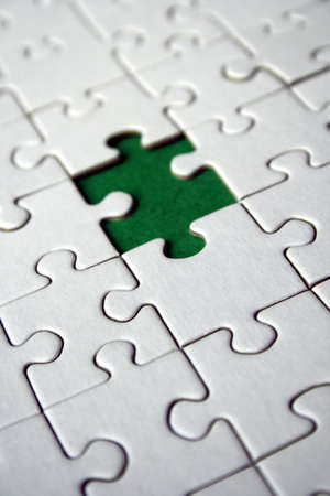 Green empty jigsaw element Stock Photo - 458313