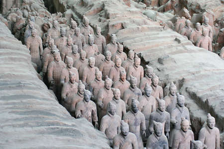 terra cotta: The museum of terra-cotta warriors and horses of qin shihuang (Xian - China)