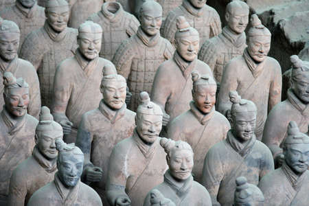 The museum of terra-cotta warriors and horses of qin shihuang (Xian - China) photo