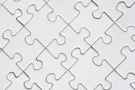 resolved: White jigsaw puzzle background