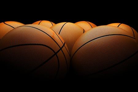terrain de basket: basket-balls Banque d'images