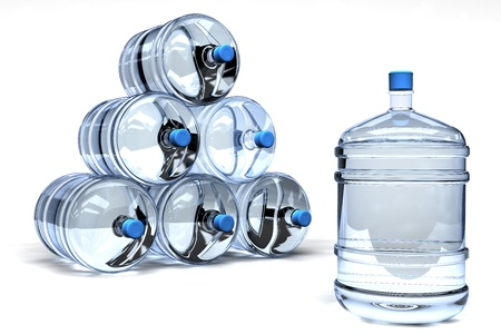 jugs: Bottled water