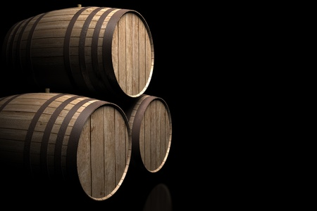 wine barrels of spain photo