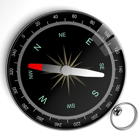 rescue west: compass isolated Stock Photo