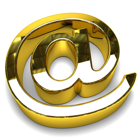 spamming: Email symbol gold