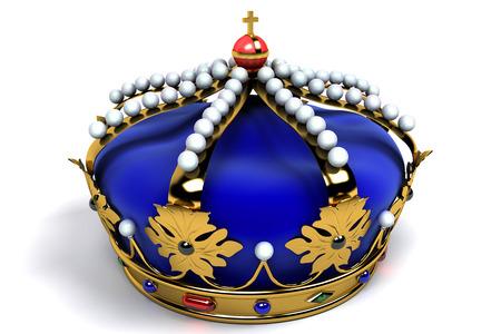 corona real: Corona del oro con las joyas Foto de archivo