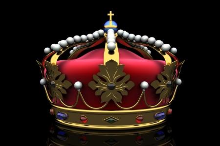 royal crown: royal crown on black background Stock Photo