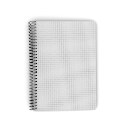 Notebook with squares photo