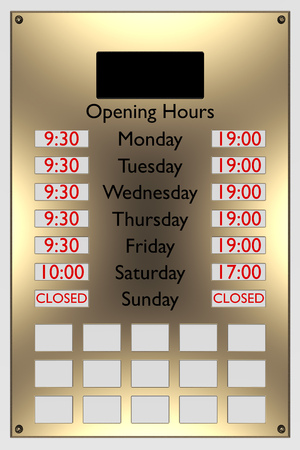 opening hours shopping photo
