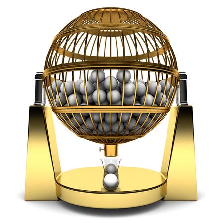 Bingo Kooi van goud met ballen
