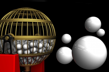 cages: lottery balls Stock Photo