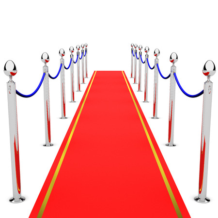 roped off: Red Carpet Stock Photo