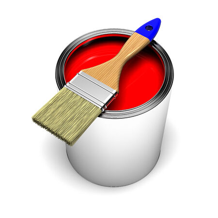 red paint can photo