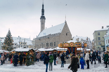 Tallinn, Estonia - january 03.2017: Christmas Market